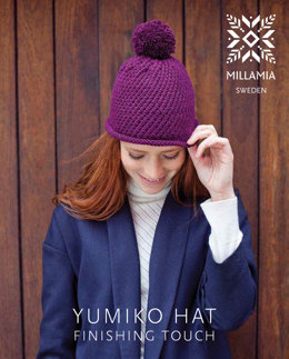 Yumiko Hat in MillaMia Naturally Soft Aran - Downloadable PDF