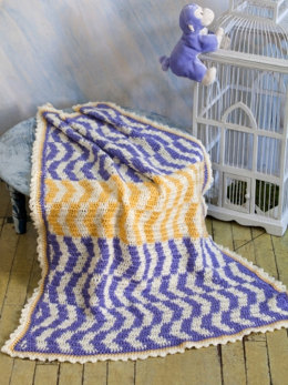 Which Way is up Baby Blanket in Caron Simply Soft - Downloadable PDF