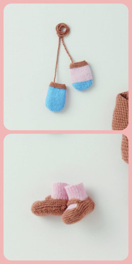Mittens & Booties in Phildar Caresse - Downloadable PDF
