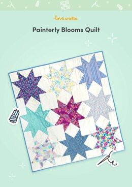 LoveCrafts Painterly Blooms Quilt Pattern - Downloadable PDF