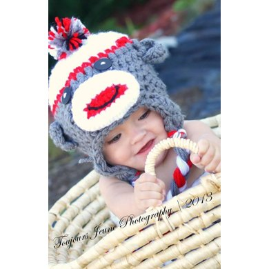 Baby Sock Monkey Hat & Sock Cocoon Pattern
