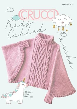 1915 Kids Cabled Poncho