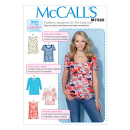 McCall's Misses' Pullover Tops M7322 - Sewing Pattern