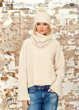 Sweater, Hat and Loop in Rico Essentials Cashmere Recycled DK - 481 - Downloadable PDF
