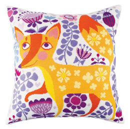 Rto Foxy Beauty Cushion Cross Stitch Kit