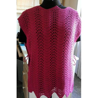 Surprisingly Easy Wavy Lace Tabard Knitting Pattern By Lenas Legacy