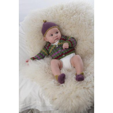 Baby Highland Dreams ,Cardigan, Hat and Bootees