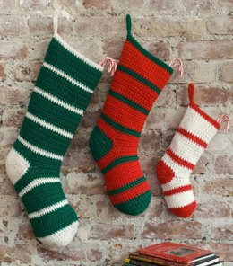 Waiting for Santa Stockings in Red Heart Super Saver Economy Solids - LW2633