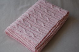DK Cable Baby Blanket