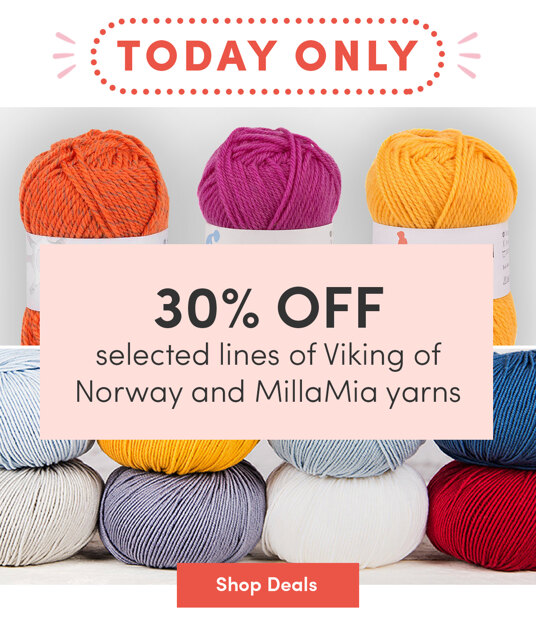 30 percent off selected MillaMia & Viking of Norway lines. Today only!
