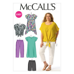 McCall's Women's Top, Tunic, Dress, Shorts and Pants M6971 - Sewing Pattern