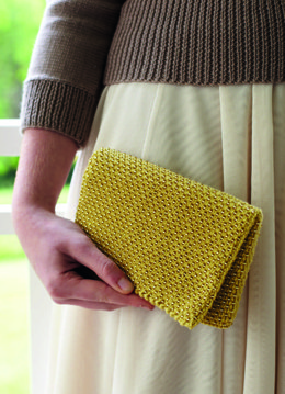 """Beaded Clutch"" - Clutch Knitting Pattern For Women in Debbie Bliss Baby Cashmerino - CF12"