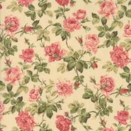Moda Fabrics Roses and Chocolate II Floral Roses Natural