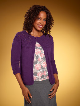 Women's Eloise Eyelet Cardi in Lion Brand Cotton-Ease - L10467