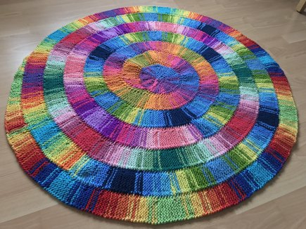 10 Stitch Twist Spiral Blanket Knitting Project By Katie P