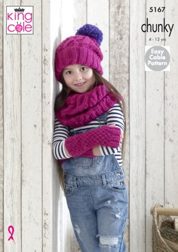 Mitts, Snoods & Hats in King Cole Comfort Chunky - 5167 - Downloadable PDF