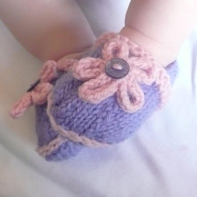Baby Flower Power Booties