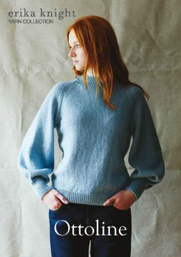 Ottoline Raglan Sweater in Erika Knight British Blue Wool
