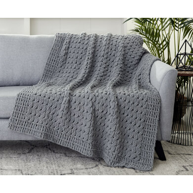 Textures Blanket in Bernat Alize Blanket-EZ - Downloadable PDF