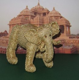 Golden Indian Elephant Toy