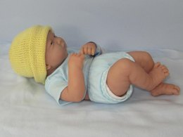 Preemie, Tiny and Newborn Baby Simple 4 Ply Beanie Hat