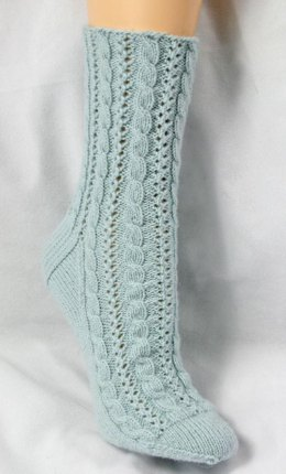 Cabled Lace Socks