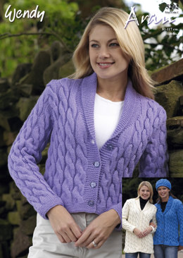 Cable Jackets & Hat in Wendy Aran with Wool 400g - 5202