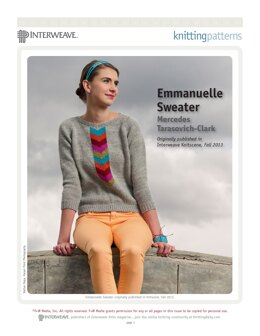 Emmanuelle Sweater in Brown Sheep Company Nature Spun Worsted - Downloadable PDF