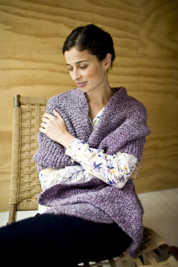 Tender Shawl in Lion Brand Homespun - 81041AD