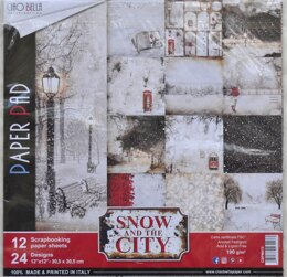 "Ciao Bella Double-Sided Paper Pack 90lb 12""X12"" 12/Pkg - Snow & The City, 12 Designs/1 Each"