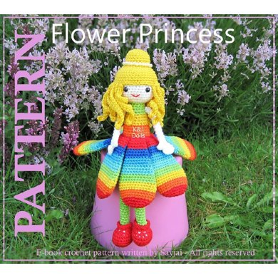 Flower Princess Amigurumi Crochet Pattern