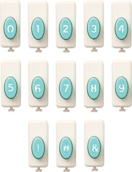 We R Memory Keepers Numbers & Symbols Punch Set - 556652