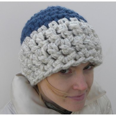 Two Colored Crochet Beanie