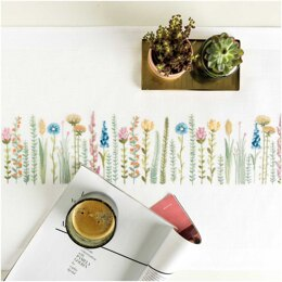 Rico Herbal Meadow Table Runner Embroidery Kit (45 x 100 cm)