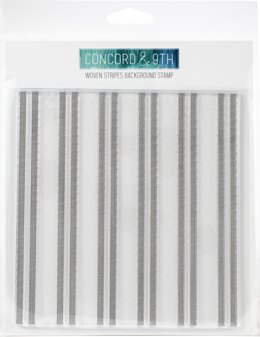 """Concord & 9th Clear Stamps 6""""X6"""" - Woven Stripes Background"""