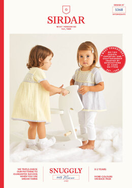 Babies Dress & Tunic in Sirdar Snuggly 100% Merino 4 Ply  - 5368 - Leaflet