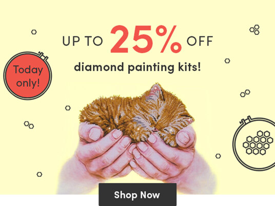 One day of up to 25 percent off Diamond Dotz kits!