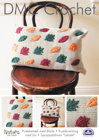 Leaves Cushion Cover in DMC Natura Just Cotton - 15216L/2