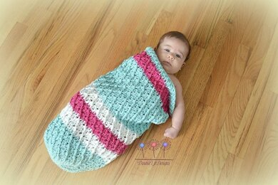 Mini Harlequin Baby Cocoon or Swaddle Sack