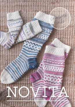 Colourwork Socks in Novita Nalle and Novita Nalle Taika - Downloadable PDF