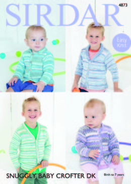 Children's Cardigans in Sirdar Snuggly Baby Crofter DK - 4873 - Downloadable PDF
