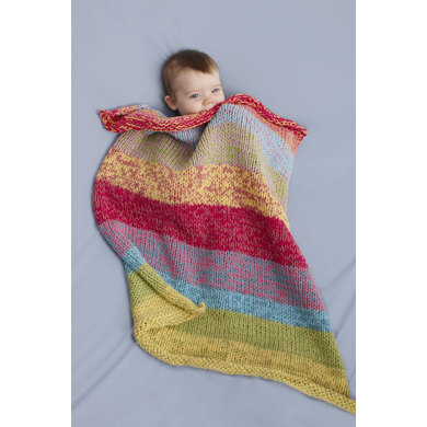 Sunshine Day Baby Throw in Lion Brand Cotton-Ease - 90078AD