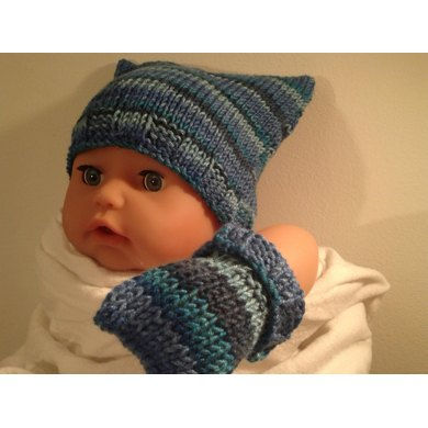 Square Teabag Hat Premature 3 Yrs Knitting Pattern By Knitting