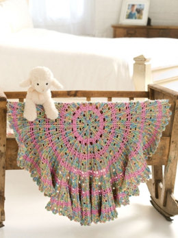 Candy Cable Baby Blanket in Caron Simply Soft Paints & Simply Soft Collection - Downloadable PDF