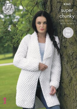 Jacket and Sweater in King Cole Big Value Super Chunky - 4363 - Downloadable PDF