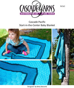 Start-in-the-Center Baby Blanket Cascade Pacific - W363