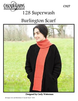 Burlington Scarf in Cascade Yarns 128 Superwash - C327 - Downloadable PDF
