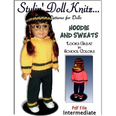 Doll Clothes Knitting Pattern Fits American Girl Doll18 Inch