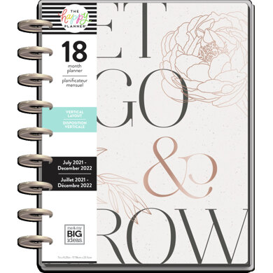 Me & My Big Ideas The Happy Planner Sophisticated Florals Classic 18 Month Planner