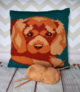 Ruby Cavalier King Charles Spaniel Cushion Cover